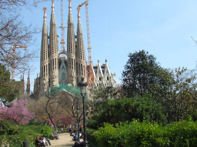 Barcelona, Spain, Sacrada da Familia, design by Gaudi