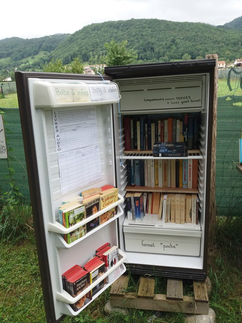 Luzenac, France, Pyrenees, bookcrossing library