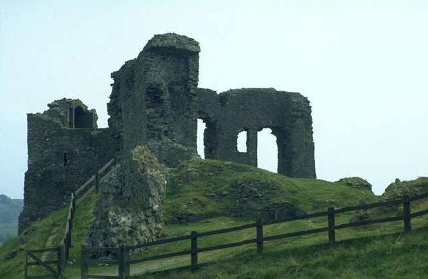 remnants of a castle in Ireland