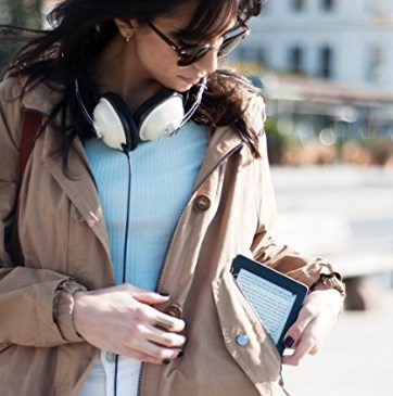 Amazon Kindle ereader fits into a coat pocket