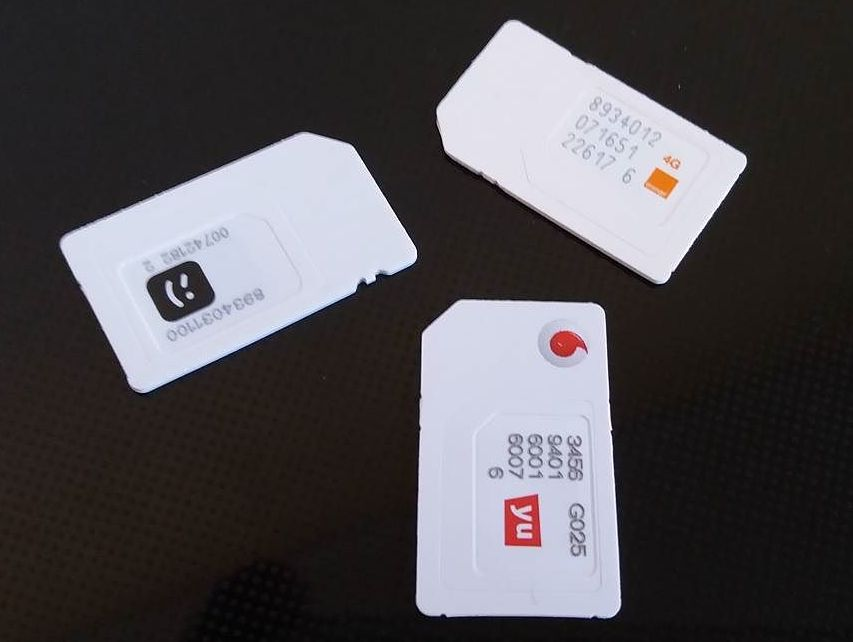 SIM cards to be used for internet access