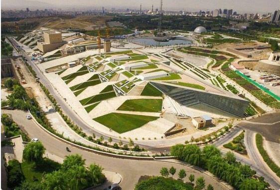 Tehran Book Garden architecture from air