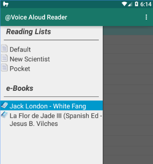 Voice aloud reader app, text-to-speech