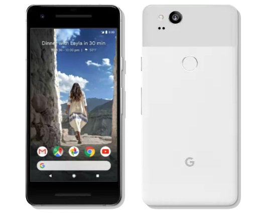 Google Pixel 2 smartphone with 12.2 megapixel camera and AI