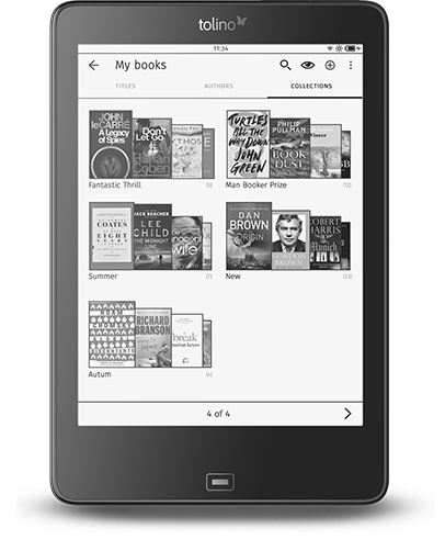 Tolino Epos ebook collections