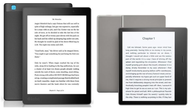 Kobo Aura One and Kindle Oasis 7-inch model