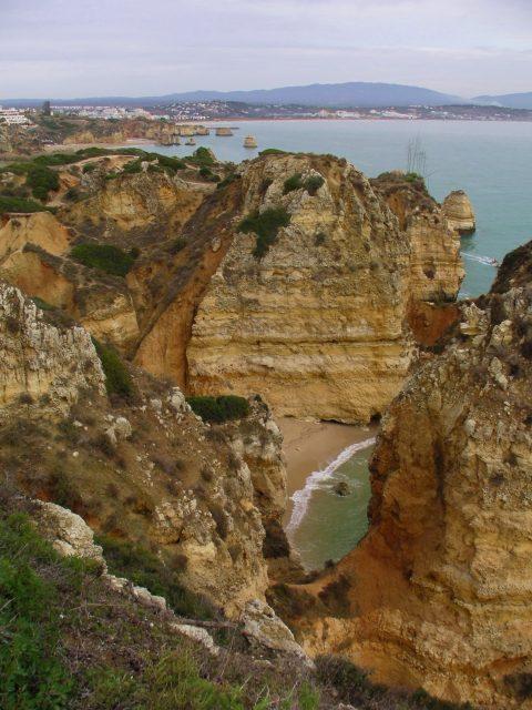 Lagos coastline in Algarve, Portugal