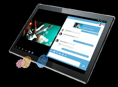 Lenovo 4 10 Plus with fingerprint login
