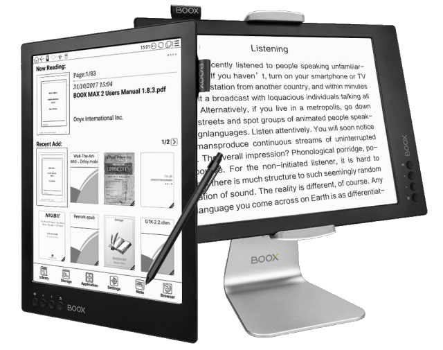 Onyx Boox Max 2 ereader and PC monitor
