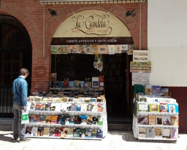bookshop of antique books in Spain