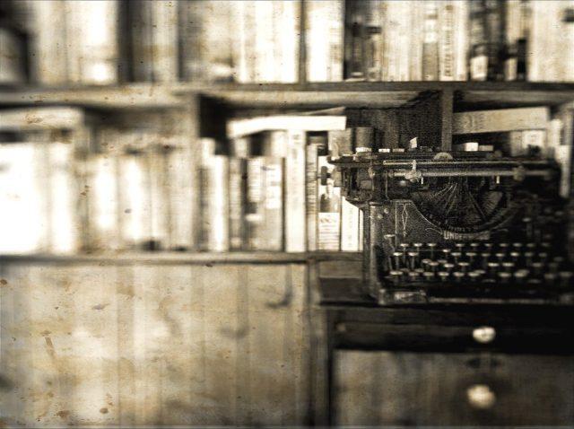 Mechanical typewriter in library. Photo by Nana B Agyei