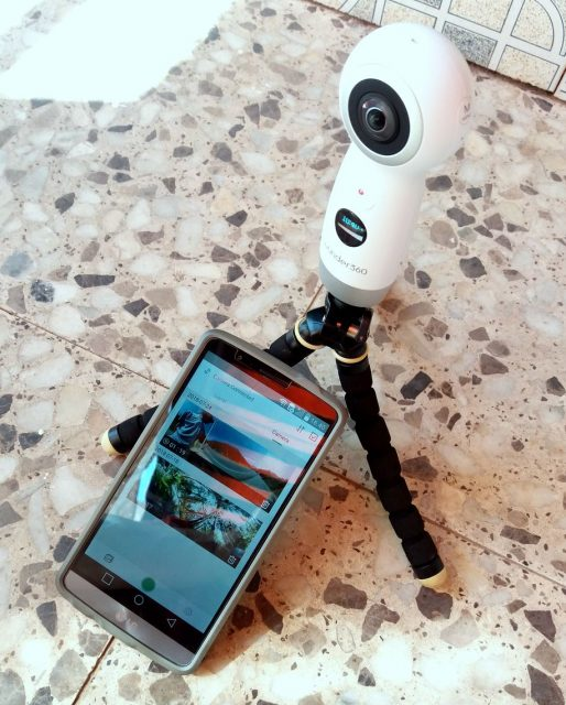 Wunder360 camcorder 360-degree video recording, edit on smartphone