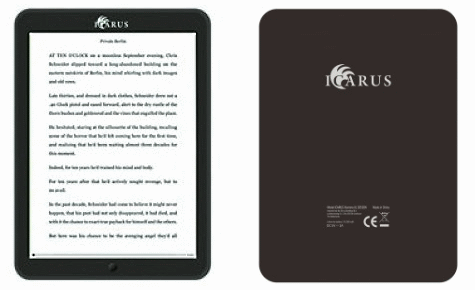 Icarus Illumina XL6, e-reader with 7.8-inch screen, Android