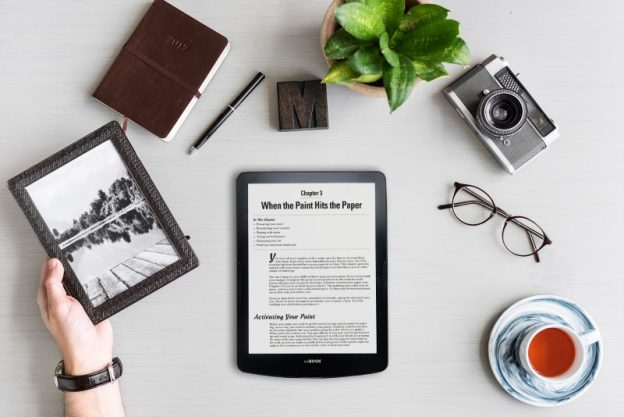 InKbook Explore ereader on desk