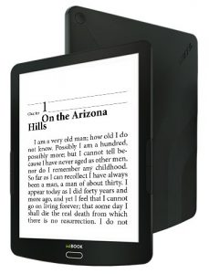 Inkbook Explore e-reader front and back sides