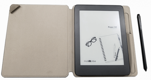 Mobiscribe notebook/e-reader with case and stylus