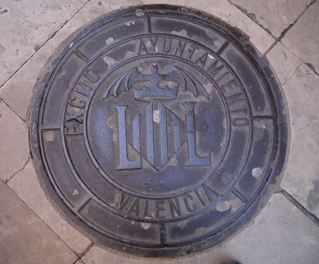 bat symbol in Valencia, Spain, Europe