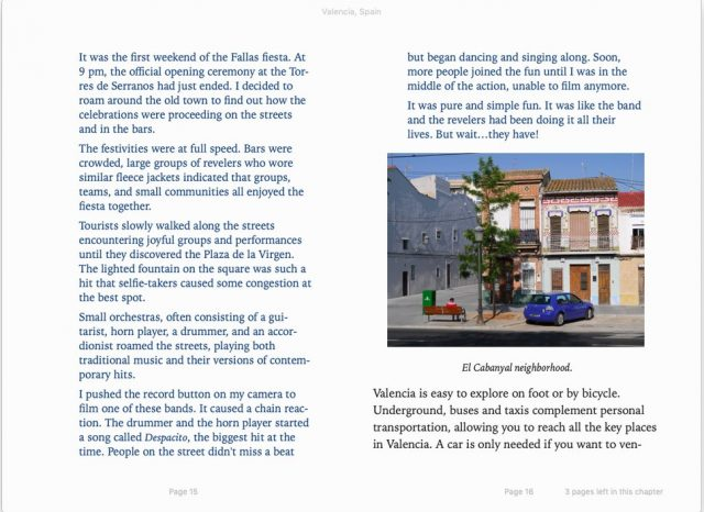 sample page from Valencia, Spain travel guide