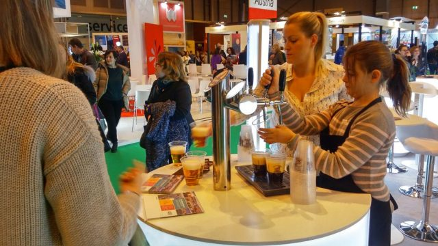 travel trade show Fitur in Madrid, Spain. Czech booth, free beer.