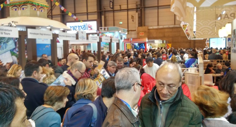 Fitur travel fair in Madrid, Spain, Japan attracted crowds.