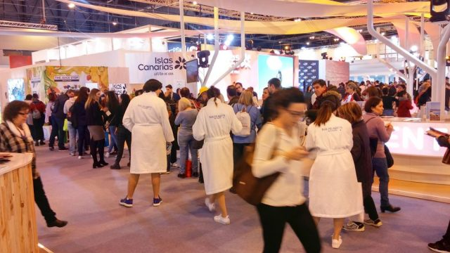 fitur travel fair in Madrid, Spain
