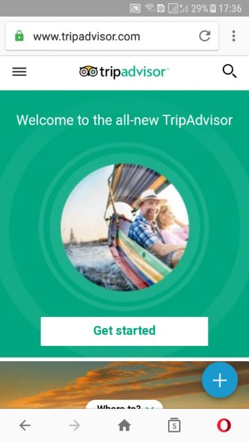 tripadvisor app on phone, screen shot