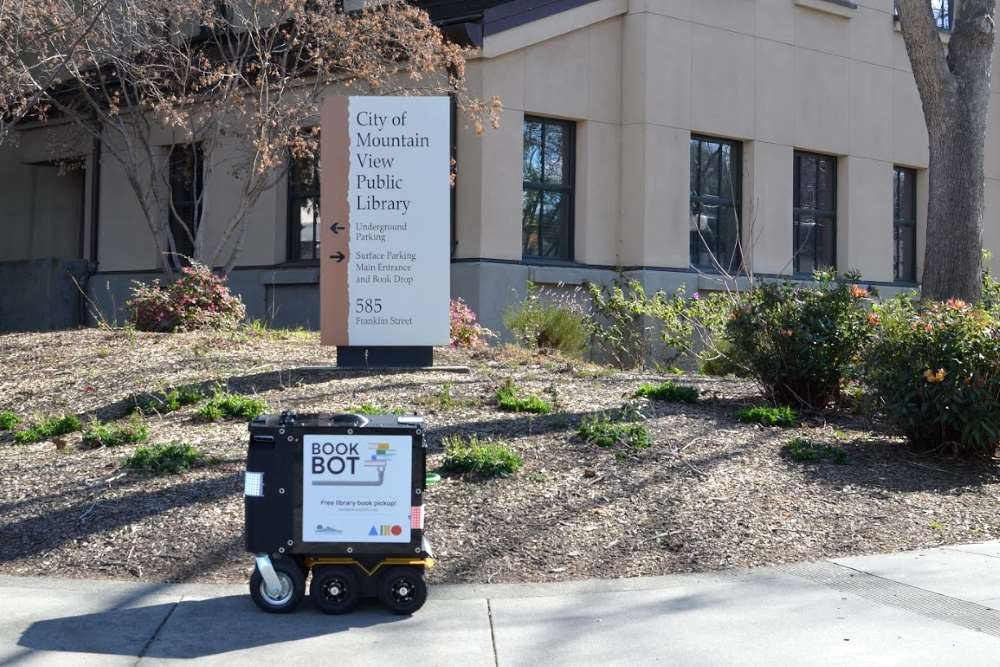 Book Bot robot in Mountain View, Silicon Valley, California