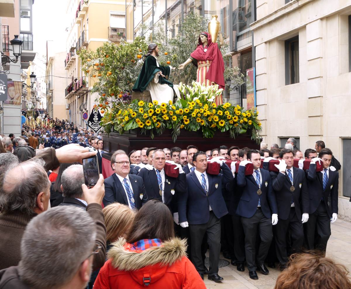 easter cavalcade through a city center in Spain