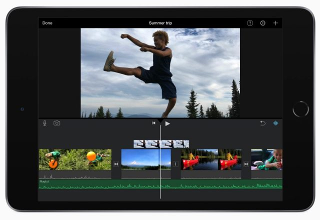 apple ipad mini, video editing app