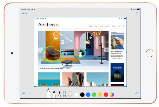 apple ipad mini, 2019 model with stylus