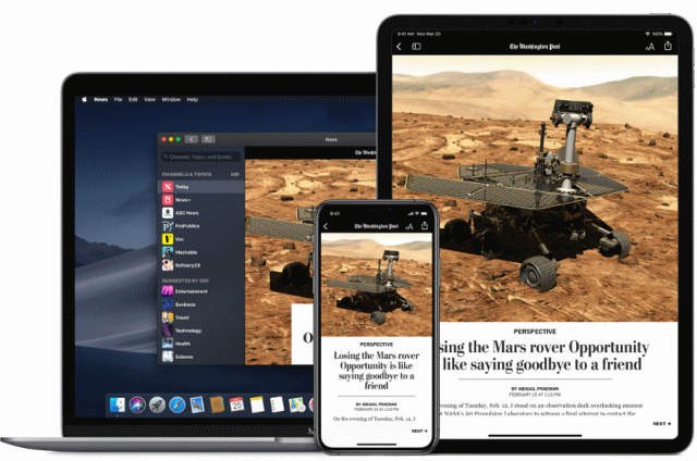 Apple News+ subscription service