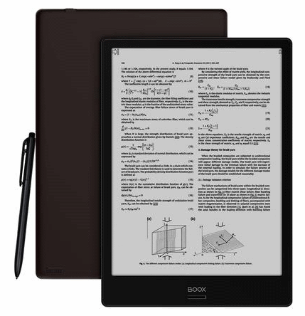 onyx boox ereader with stylus