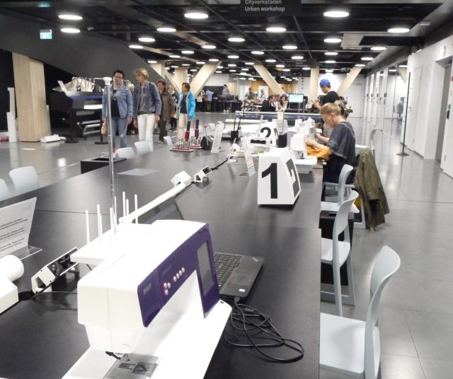 sewing machines, 3D printing and computers available at Oodi Library in Helsinki, North Europe