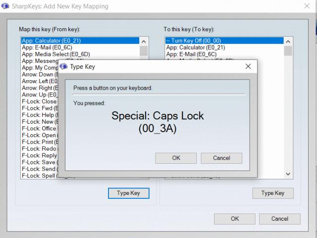 sharpkeys tool  to customize keys on a Windows PC keyboard