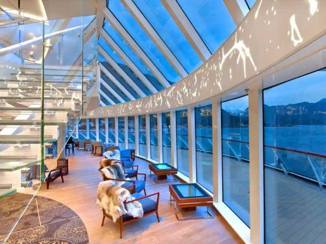 viking ocean cruises, a lounge on a ship