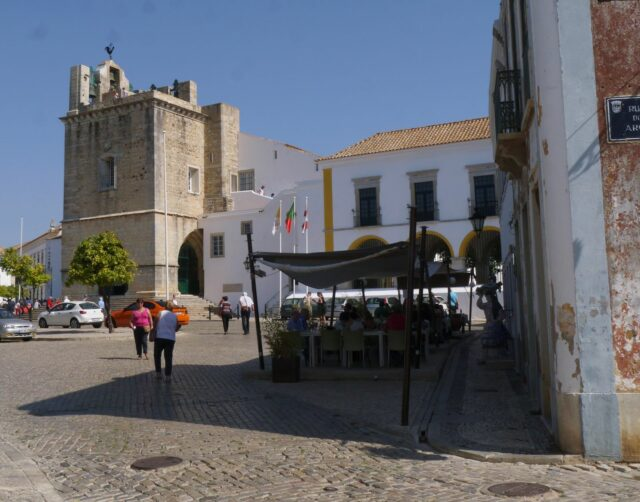 old town of Faro in Algarve, south coast Portugal.