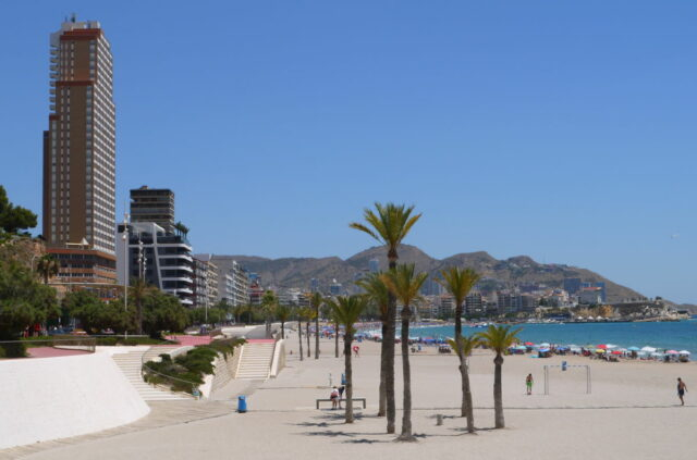 benidorm, spain, poniente beach and hotels