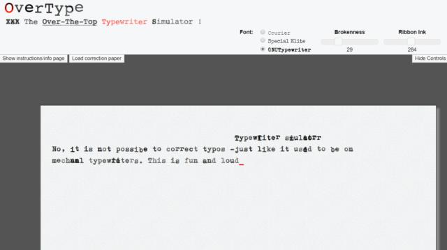 overtype typewriter simulator