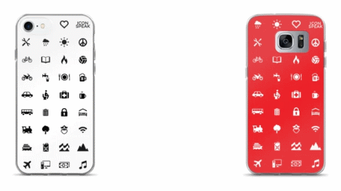 iconspeak mobile phone cases with icons