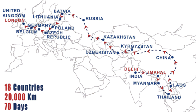 adventures overland bus trip route Delhi-London