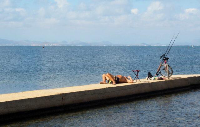 tired fisherman at Mar menor