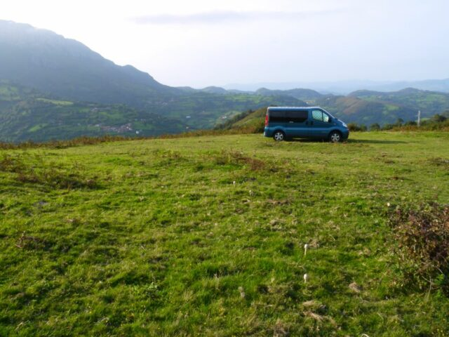 campervan on mountains Picos de Europa