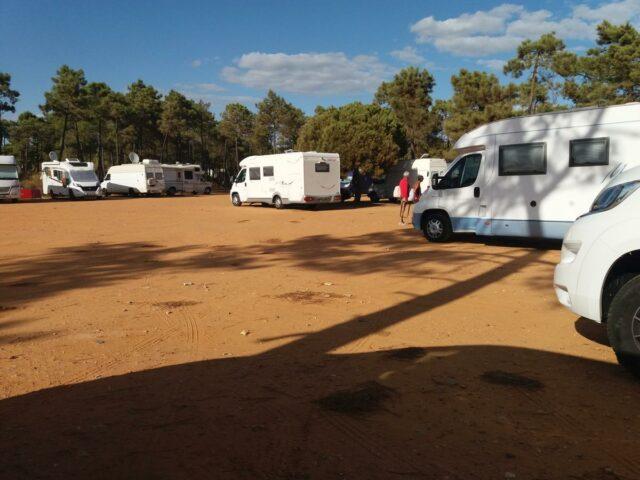 sand dune camping in Algarve, Monte Gordo