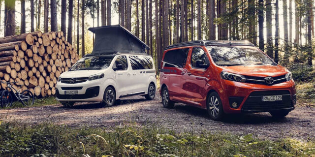 crosscamp lite campervans: opel zafira and toyota proace