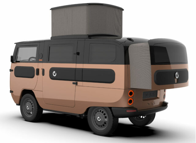 x-bus electric van as campervan