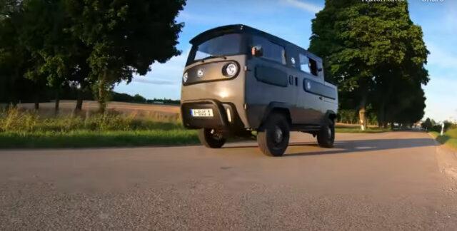 x-bus van prototype by electric brands