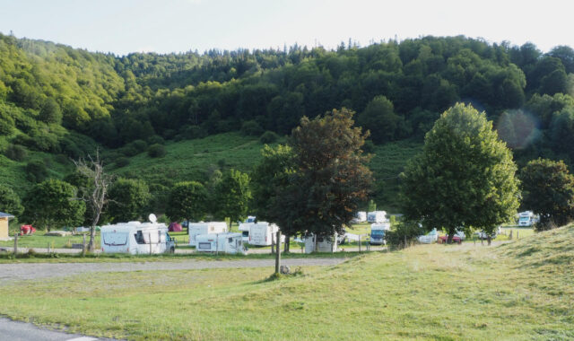 payolle, france, caravan camping site